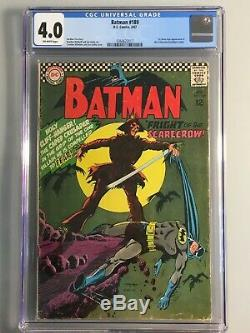 Batman 189 CGC 4.0 1st Silver Age Scarecrow Iconic Cover KEY Book