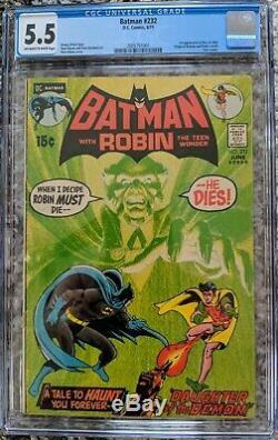 Batman #232 CGC Graded 5.5 1st Appearance Ra's al Ghul Neal Adams Key Issue