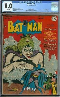 Batman #49 Cgc 8.0 White Pages