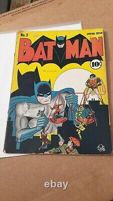 Batman #5 Golden Age Comic Book Joker Appearance 1941