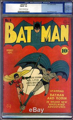 Batman #6 CGC 7.0 FN/VF Universal