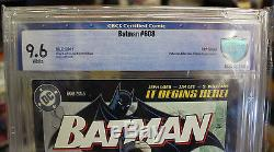 Batman #608 RRP Grade 9.6 CBCS Diamond Retailer Summit Variant! Jim Lee Hush