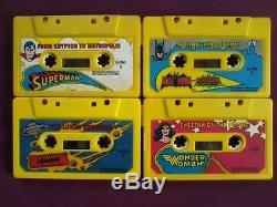 Batman / Superman / Justice League DC Fisher Price Story Books & Audio Cassettes