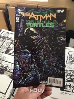 Batman TMNT Crossover Eastman original artwork -extraordinarily rare opportunity