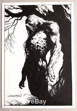 Bernie Wrightson 11X17 Original Art Swampthing Ink on Bainbridge Board