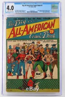 Big All-American Comic Book #1 CGC 4.0 VG DC 1944 Wonder Woman & Flash