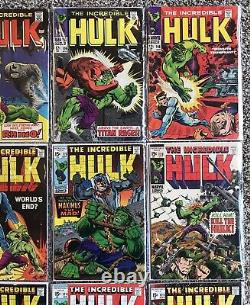 Big Mixed Lot Silver Age Lot Comic Books Hulk 12 & 15 Cent Covers 103-125 No 102