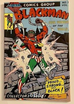 Blackman Comic Book Soul Wonder of the World Leader Comics Group No 1 Vol 1