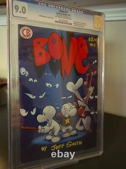 Bone #1 CGC 9.0 Cartoon Books 1991 1st appearance! Jeff Smith! See Scan! F8 cm