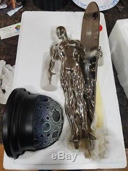 Bowen Chrome Silver Surfer Statue Marvel Galactus Fantastic Four