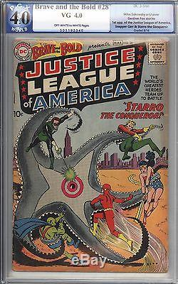 Brave and the Bold #28 Vol 1 PGX 4.0 Mid Grade Unrestored 1st App Justice League