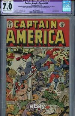 CAPTAIN AMERICA COMICS #46 CGC 7.0 OWithWH PAGES