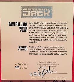 CARTOON NETWORK NEW! SAMURAI JACK ANIMATION STATUE MAQUETTE Figure Bust