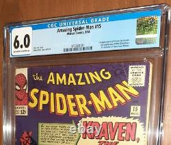 CGC 6.0 Amazing Spider-Man # 15. First 1st Appearance of Kraven the Hunter. MCU