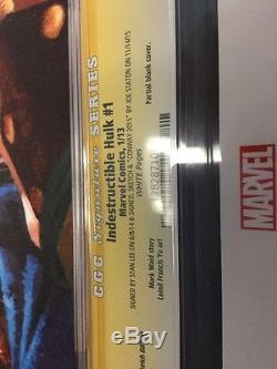 CGC 9.8 Indestructible Hulk #1 Stan Lee Signature Series, Joe Staton Sketch