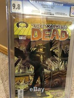 CGC 9.8 WALKING DEAD #1 Image Comics 2003 1st App Rick Grimes Grail Book RARE