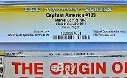 CGC SS 8.5 Captain America #109 (Silver Age Comic 1/69) Signed by Stan Lee