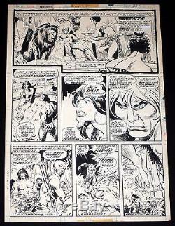 CONAN #62 pg 22 John Buscema Original Marvel Bronze Age Comic Art Page 1976