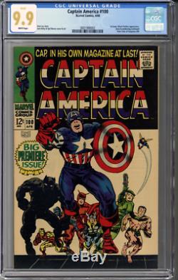Captain America #100 CGC 9.9