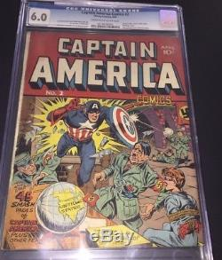 Captain America Comics #2 (Timely, 1941) CGC 6.0 FN Classic Hitler cover 2nd app