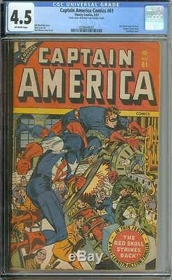 Captain America Comics #61 Cgc 4.5 Ow Pages