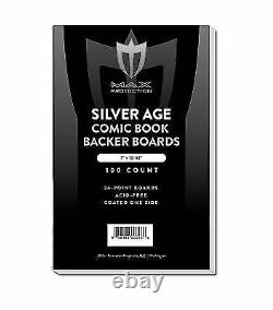Case 1000 Max Pro Silver Age Comic Book Backing Boards Acid Free white backers