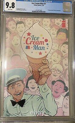 Cgc 9.8 Ice Cream Man # 1, Image Comics, Scarce Book