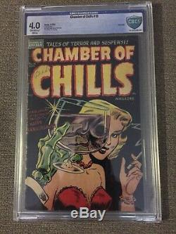 Chamber of Chills #19 CBCS 4.0 OWithW CLASSIC PRECODE HORROR PCH GRAIL HARVEY 1953