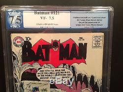 DC BATMAN #121 PGX(LIKE CGC) 7.5! HIGHEST GRADE SOLD ON EBAY! UNRESTORED