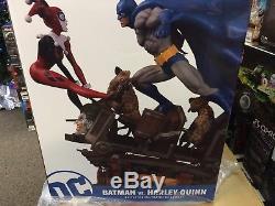 DC Comics Collectibles Direct BATMAN VS HARLEY QUINN BATTLE STATUE! SRP=$375
