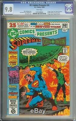 DC Comics Presents #26 Cgc 9.8 White Pages
