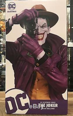 DC Designer Series Joker By Brian Bolland Killing Joke Statue New