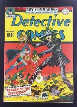 DC Detective Comics #73 Return of the Scarecrow Golden Age 1943 VG+ NO RESERVE