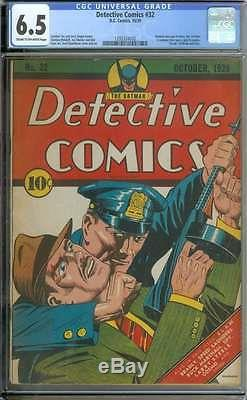 Detective Comics #32 Cgc 6.5 Cr/ow Pages
