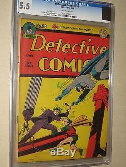 Detective Comics 98 (dc 1945) Batman Robin Cgc 5.5 (fn-) Golden Age