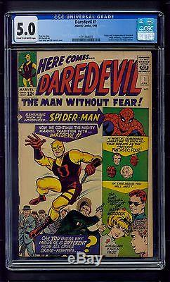 Daredevil #1 (1964) CGC Graded 5.0 Origin of Daredevil Stan Lee & Jack Kirby
