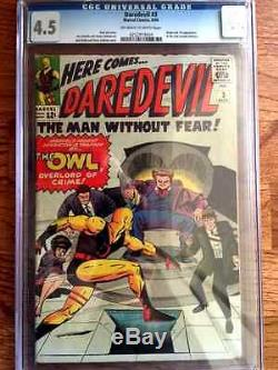 Daredevil #1-3 Avengers #4 X-Men #2-5 CGC GRADED-1 Owner- Silver Age Comics