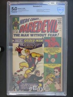 Daredevil #1 CBCS 5.0 VG/FN -Marvel 1964- 1st App/ORIGIN Daredevil 1st Foggy