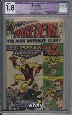Daredevil 1 CGC 1.8 Restored (B-1) 1st Matt Murdock Foggy Nelson Karen Page