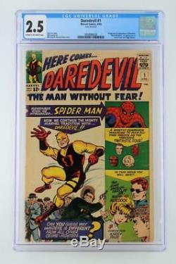 Daredevil #1 CGC 2.5 GD+ Marvel 1964 1st App & ORIGIN Daredevil 1st Foggy