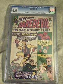 Daredevil 1 Cgc 4.0(1964) Hot Book! Great Colors