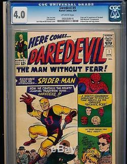 Daredevil # 1 origin & 1st appearance CGC 4.0 OFF-WHITE Pgs