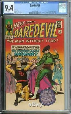 Daredevil #5 Cgc 9.4 White Pages