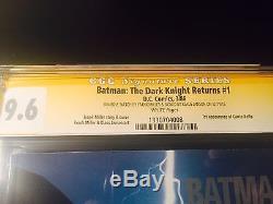 Dark Knight Returns #1 DKR CGC SS 9.6 Signed Batman SKETCH by FRANK MILLER +1