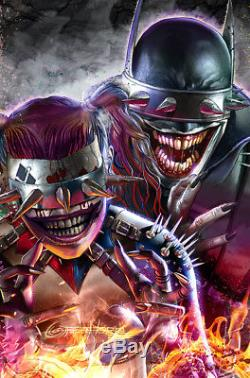 Dark Nights Metal 6 Greg Horn Harley Quinn Who Laughs Variant Batman Con 4-pack