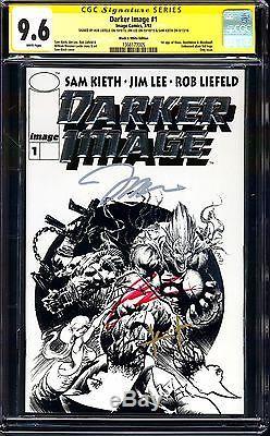 Darker Image #1 B&w Platinum Variant Cgc 9.6 Ss 3x Liefeld, Lee, Kieth! 1st Maxx