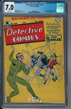 Detective Comics #140 CGC 7.0 WHITE PAGES
