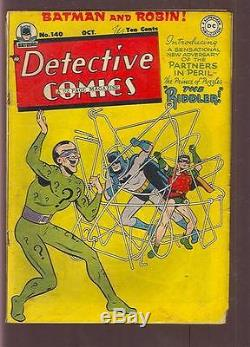 Detective Comics #140 with Batman 1st App The Riddler Cover and Story (sku-83078)