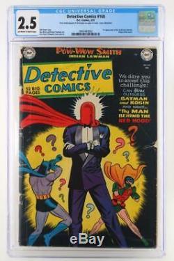 Detective Comics #168 DC 1951 CGC 2.5 GD+ 1st App Red Hood Identity