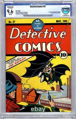 Detective Comics #27 CBCS 9.6 (R) 1st Appearance Batman & Commissioner Gordon